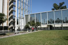 Schuller Church in los Angeles by Architect Richard Neutra (This is located within the Crystal Cathdral Campus along with buildings by Philip Johnson and Richard Meier. Richard Neutra, Richard Meier, Philip Johnson, American, Wind Chimes, Architecture Design, Mid Century, Building, Outdoor Decor