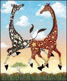 Art Deco Giraffes