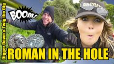 Digger Dawn & Twig the Dig - BOOM 1st  EVER ROMAN SILVER DENARIUS - 1st ... In The Hole, Metal Detecting, Digger, Twiggy, Dawn, Roman