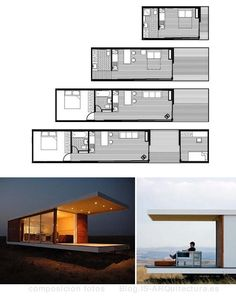 The 320 sq ft 'Intellectual' shipping container house by Colorado based Roostspace Container Buildings, Container Architecture, Architecture Design, Garden Architecture, Modular Homes, Prefab Homes, Container House Plans, Container Cabin, Container Store