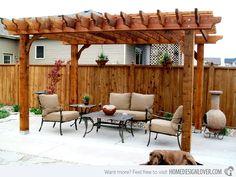 15 Designs of Pergolas to Shade Seating Areas | Home Design Lover