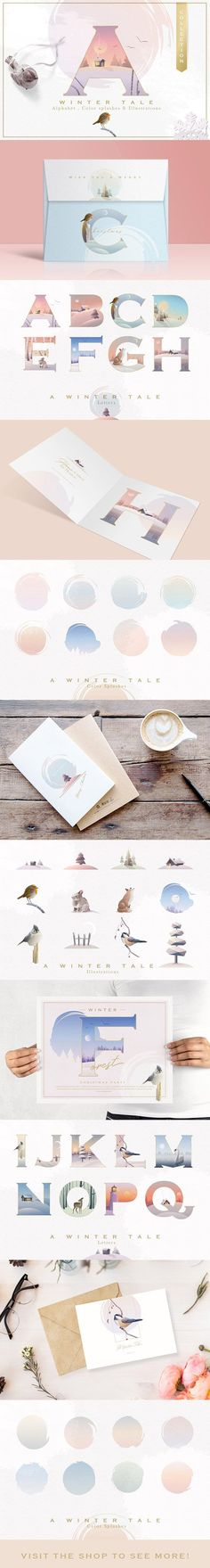 A Winter Tale collection by Polar Vectors on @creativemarket