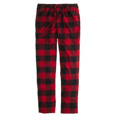 flannel pajama pant in red & black buffalo check // jcrew Mens Flannel Pajamas, Buffalo Plaid Pajamas, Jcrew Gifts, Dog Pajamas, Pyjamas, Pjs, Italian Leather Shoes, Pj Pants, J Crew Men