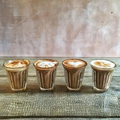 Our latte glasses are made with tempered glass -- shatter/heat resistant