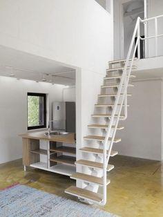 VolgaDacha House / BERNASKONI #stairs