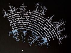 "Fragment from ""La Bonté"" from Nabokov ~ Calligraphy by Benoit Furet"