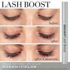 Rodan + Fields Lash Boost is a nightly conditioning serum applied once nightly with one swipe. With Keratin and Biotin, Lash Boost promotes the appearance of longer, fuller looking lashes and eyebrows. Message for more info. Rodan Fields Lash Boost, My Rodan And Fields, Longer Eyelashes, Long Lashes, Fake Lashes, Eyelashes Grow, Thick Eyelashes, Rf Lash Boost, Make Up