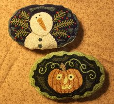 Primitive Needle Punch Pin Cushion PATTERN Fall by thetalkingcrow