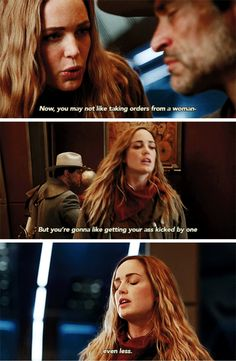 """You may not like taking orders from a woman, but you're gonna like getting your ass kicked by one"" - Sara and Jonah Hex #LegendsOfTomorrow"