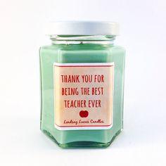 Thank you Teacher Gift, Scented Candle Teacher Gift, Apple Scented Candle, End Of Year Gift, Gift For Teacher, Teacher Quote Gift,