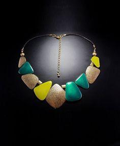 Colorful Stone Bohemian Short Necklace