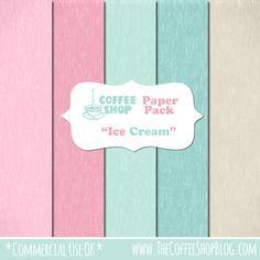 "The CoffeeShop Blog: CoffeeShop Free ""Ice Cream"" Digital Paper Pack!"