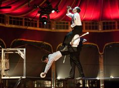 Specialty acts in Vegas: Tony 'Tightropes' Hernandez from 'Absinthe' (Downtown in spirit.)