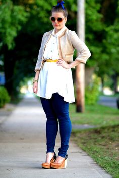 Dressed-up denim: Kristin MacDonald  jeans and a sundress are my perfect outfit.