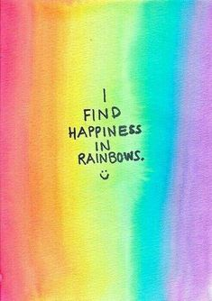 Happy Quotes : Rainbows let my emotions know that its okay to be of wild array. - Hall Of Quotes Love Rainbow, Taste The Rainbow, Rainbow Pride, Over The Rainbow, Rainbow Colors, Rainbow Things, Rainbow Quote, Rainbow Stuff, Rainbow Room