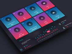 Saltwater Tank App Dashboard designed by Anke Mackenthun. Connect with them on Dribbble; the global community for designers and creative professionals. Web Ui Design, Dashboard Design, Interface Design, User Interface, Saltwater Tank, Ui Web, Ui Elements, Web Inspiration, App Ui