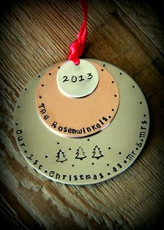 Hey, I found this really awesome Etsy listing at https://www.etsy.com/listing/168385511/first-christmas-as-mr-and-mrs-ornament