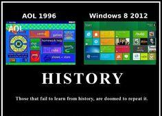 Aol 1996 versus Windows 8 2012