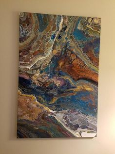 Stunning 24 x 36 Acrylic Pour Resigned No - Harmonia de cores Acrylic Pouring Techniques, Acrylic Pouring Art, Acrylic Art, Painting Techniques, Art Resin, Cast Acrylic, Art Diy, Fluid Acrylics, Pour Painting