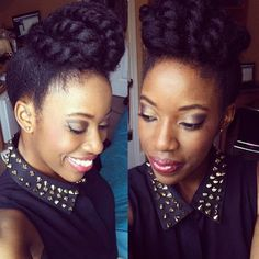10 of the Most Gorgeous and Creative Chunky Twist Styles | Black Girl with Long Hair