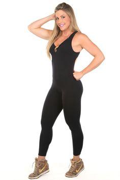 Dani Banani Moda Fitness - macacao-tiras-preto-com-dourado produto 3096 macacao