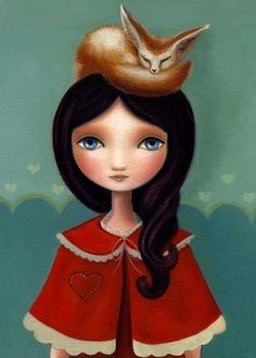"""Rose and her Little Fennec Fox"" by Marisol Spoon."