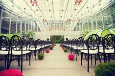 Beautiful ceremony venue at California Academy of Sciences wedding by San Francisco wedding photographer, Tinywater Photography