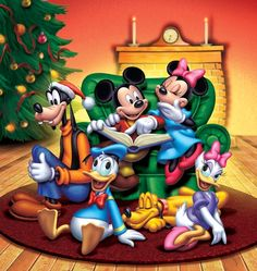 Christmas - Disney - Micky & Minnie Mouse & Friends - John Hom | Workbook Illustration Portfolio