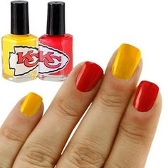 31NFL Kansas City Chiefs Two-Pack Team Colored Nail Polish Steelers Team 21d0dde91