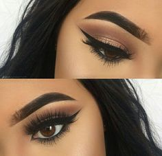Eyeliner hacks, eyeliner makeup, makeup on fleek, flawless makeup, cute mak Makeup On Fleek, Kiss Makeup, Flawless Makeup, Cute Makeup, Gorgeous Makeup, Pretty Makeup, Hair Makeup, Red Makeup, Makeup Brush