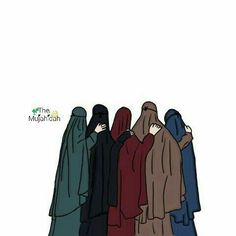 Me and my four friend , Love Cartoon Couple, Cartoon Girl Images, Girl Cartoon, Cartoon Pics, Muslim Girls, Muslim Couples, Dc Superhero Girls Dolls, Best Friends Cartoon, Hijab Drawing