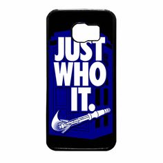 Nike Just Who It Tardis Parody Samsung Galaxy S6 Case
