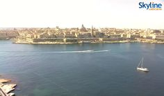 Splendid panoramic view of Valletta from Tigne Seafront.