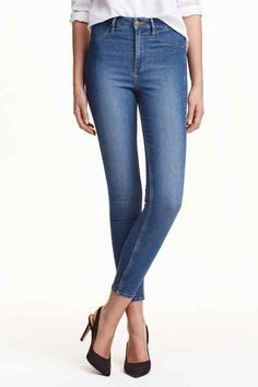 Jeans Skinny High Ankle