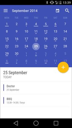 material light calendar agenda - Google Search