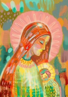 Blessed Mother Mary, Divine Mother, Blessed Virgin Mary, Catholic Art, Religious Art, Hail Holy Queen, Images Of Mary, Christian Artwork, Mary And Jesus