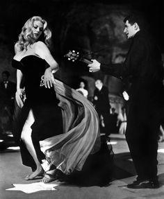 Anita Ekberg in La Dolce Vita (1960), directed by Federico Fellini,  starring Marcello Mastroianni