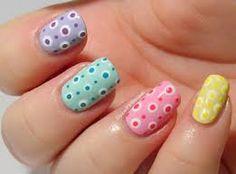 Color and dots Dot Nail Art, Polka Dot Nails, Polka Dots, Toe Nail Designs, Nail Polish Designs, Nails Design, Sassy Nails, Trendy Nails, Nail Polish Style