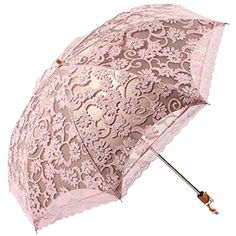 Leegoal Ladies Umbrella Lace Parasol Folding Umbrella Sun Shade... ($35) ❤ liked on Polyvore featuring accessories and umbrellas