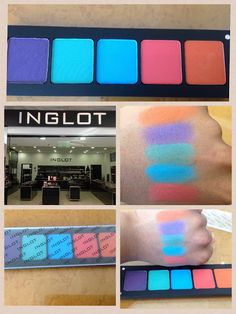 Inglot shadows! Love the colors and the palettes last such a long time