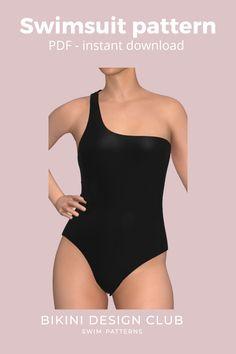 Swimsuit Pattern, Paper Size, Swimsuits, One Piece, Patterns, Fashion, Size Of Paper, Block Prints, Moda