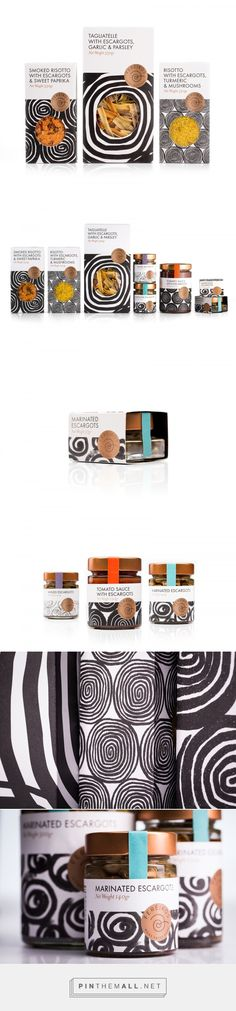 Fereikos Escargots packaging design by Bob Studio - http://www.packagingoftheworld.com/2017/03/fereikos-escargots.html