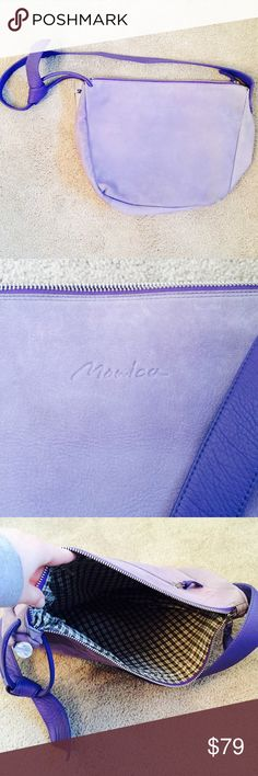 ❗️Monica Leather Lavender Handbag MSRP $248 ❗️Monica Leather Lavender/ Purple Crossbody Handbag. Very large. In great condition retailed $248. Feel free to make an offer! Im having a huge New Year Cleanout Sale. I consider all reasonable offers on individual items & bundles. ;-) Current bundle deals ends soon Monica Bags Crossbody Bags