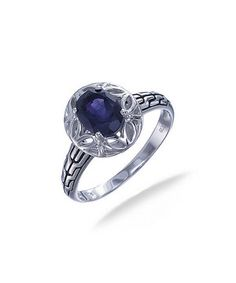 Polish off a fresh manicure with this ring to radiate with refined style. Shimmering with an exquisite amethyst and luxe sterling silver, it lends any look endless shine.