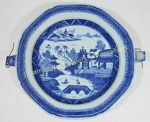 Canton Chinese Export Warming Plate, 19th C. WWW.JJAMESAUCTIONS.COM