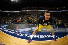 Bogdan Bogdanovic, #13 of Fenerbahce Istanbul warms-up prior to the 2015-2016 Turkish Airlines Euroleague Basketball Playoffs Game 1 between Fenerbahce Istanbul v Real Madrid at Ulker Sports Arena on April 12, 2016 in Istanbul, Turkey.