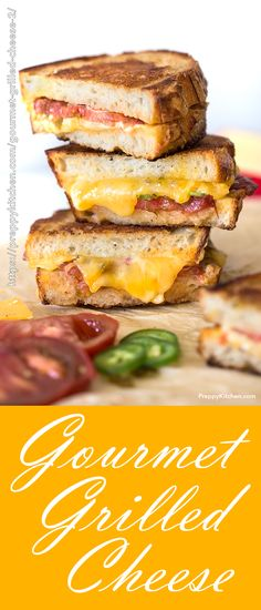 The BEST gourmet grilled cheese sandwich made with Jarlsberg cheese, Gouda cheese and Cheddar cheese. This classic grilled cheese recipe brings back so many childhood memories. Classic Grilled Cheese Recipe, Grilled Cheese Recipes, Sandwich Recipes, Jalapeno Recipes, Sandwich Ideas, Quick Lunch Recipes, Brunch Recipes, Dessert Recipes, Meal Recipes