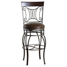 Another option, that isn't $300 for one...YIKES bar stools are expensive! Colton 30-Inch Swivel Bar Stool - Bronze