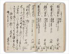 ご書しょ物もつ方かた日にっ記き   将軍の蔵書庫を管理していた「書物方」の業務日誌で、享保4年(1719)から安政4年(1857)までの記録を、全209冊に綴っています。本書の享保7年(1722)9月16日の条には、「保定府志」「真定府志」を含む12の「地方志」が蔵書庫から取り出され、徳川吉宗のもとへ届けられたことが記されています。