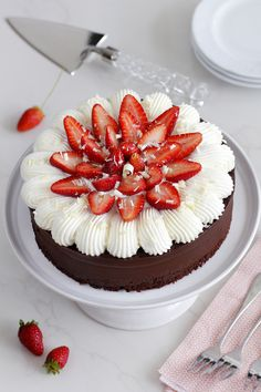 Gluten Free Chocolate and Strawberry Cake